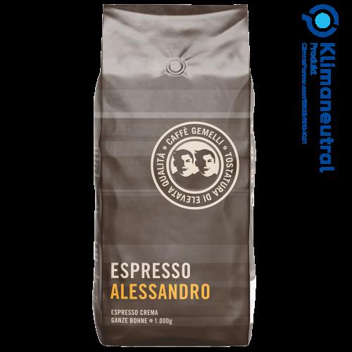 Espresso Alessandro Caffé Gemelli klimaneutral